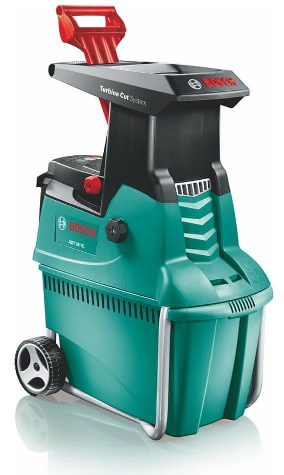Ágdaráló, ágaprító, ágzúzó gép, elektromos Bosch AXT 25 TC. HALK MŰKÖDÉS!!!
