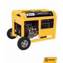 Áramfejlesztő, aggregátor 7 kW benzines Lumag G8-E 400V/16 A, 3*230 V/ 16 A, 12 V kimenet