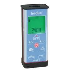 Lézeres távolságmérő, 50 m hatótáv,  +- 1,5 mm  pontosság.  Hedue EM 1